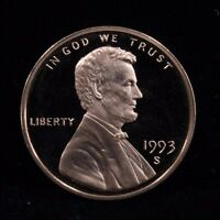 1993 S UNCIRCULATED MINT PROOF LINCOLN CENT 1C COIN DCAM
