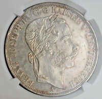 Click now to see the BUY IT NOW Price! 1867 AUSTRIA FRANZ JOSEF I.  SILVER 2 TALER  DOPPELTALER  COIN. NGC MS 61