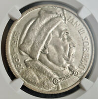 1933 POLAND  2ND REP. . SILVER 10 ZLOTYCH COIN. JOHN III SOBIESKI. NGC MS 61