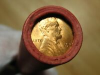 ONE    LINCOLN WHEAT PENNY ROLL GEM 1909S & VDB REVERSE