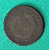 UNITED-STATES, 2 CENTS 1866