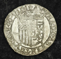 1604 NETHERLANDS LIMBURG THORN. LY  4 STUIVER  4 SOLS  COIN. XF/VF