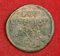 1705 HUNGARY FERENC II RKCZI. COPPER 10 POLTURA COIN. REVOLUTIONARY COINAGE