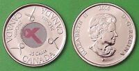 2006 CANADA PINK RIBBON 25 CENTS FROM MINT'S WRAPPED ROLL