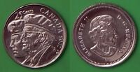 2005 CANADA  P MARK  YEAR OF THE VETERAN 25 CENTS FROM MINT'S WRAPPED ROLL
