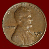 1956 D WHEAT CENT. BUY ANY 3 FOR $1 OFF. SHIPS FREE. NR