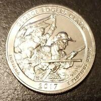2017 S GEORGE ROGERS CLARK ATB QUARTER   FROM MINT ROLL  7821