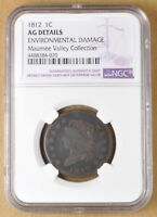 1812 CLASSIC HEAD LARGE CENT NGC AG DETAILS