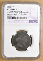 1803 DRAPED BUST LARGE CENT NGC VG DETAILS