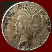 1923-S PEACE 90 SILVER DOLLAR SHIPS FREE. BUY 5 FOR $2 OFF
