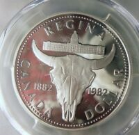 1982 CANADA DOLLAR   SILVER PROOF   PCGS PR70 DCAM   AWESOME