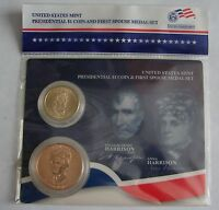 2009 US MINT PRESIDENTIAL $1 COIN & 1ST SPOUSE MEDAL SET WILLIAM HENRY HARRISON