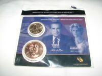 2016  US MINT PRESIDENTIAL $1 COIN &  SPOUSE MEDAL SET NIXON - KENNEDY