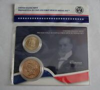 2009 US MINT PRESIDENTIAL $1 COIN & 1ST SPOUSE MEDAL SET JAMES BUCHANAN