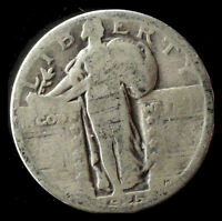 1925-P STANDING LIBERTY 90 SILVER QUARTER SHIPS FREE. BUY 5 FOR $2 OFF