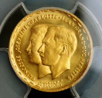 1953 LUXEMBOURG. GOLD 20 FRANCS