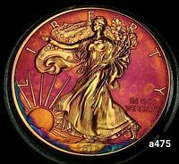 AMERICAN SILVER EAGLE COIN 2015 RAINBOW MONSTER TONED 1OZ .999 FINE A475