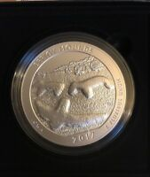 2017 EFFIGY MOUNDS NATIONAL MONUMENT AMERICA THE BEAUTIFUL 5 OZ SILVER COIN OGP