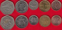 BARBADOS SET OF 5 COINS: 1 CENT   1 DOLLAR 1973 2017
