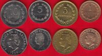 EL SALVADOR SET OF 4 COINS: 1   10 CENTAVOS 1972 1995 UNC