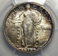 1918/7-S PCGS MINT STATE 64 STANDING LIBERTY QUARTER