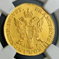 1801 GERMAN STATES LUBECK  FREE CITY . GOLD DUCAT COIN.   NGC MS 62