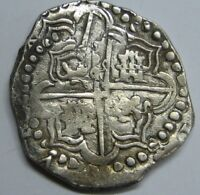 PHILIP IV 8 REAL COB POTOSI ASSAYER P BOLIVIA LIONS CHANGE  SPAIN