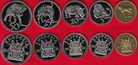 RHODESIA SET OF 5 COINS: 1   50 CENTS 2018