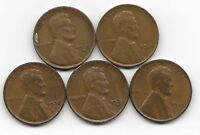 1930S 1931 1932 1932D 1933 LINCOLN WHEAT CENT CENTS 5 COIN LOT