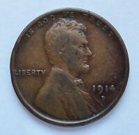 KEY DATE  1914-D U.S. LINCOLN PENNY  FINE CONDITION