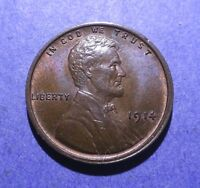 1914 LINCOLN CENT  CH. BU BROWN