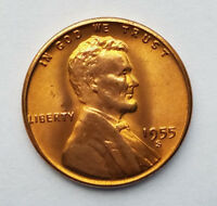 1955 S LINCOLN WHEAT CENT  B/U  W/  LUSTER
