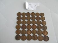 LOT OF 36 LINCOLN WHEAT CENT 1944 CIRCULATED UNCLEANED