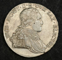 1805 SAXONY FREDERICK AUGUSTUS III  ELECTOR . LARGE SILVER THALER COIN. XF AU