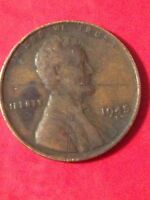 1945 S LINCOLN WHEAT CENT - J27