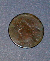 COUNTERSTAMPED 1809 LARGE CENT 1C CLASSIC SIMILIAR TO FLEUR DE LIS COUNTER STAMP