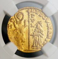 1789 DOGES OF VENICE LUDOVICO MANIN. GOLD ZECCHINO DUCAT COIN. NGC MS 60