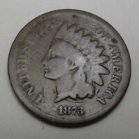 1873 P INDIAN HEAD CENT / PENNY   G - GOOD    SHIPS FREE