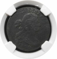 1800 DRAPED BUST LARGE CENT 1C S209 KEY DATE BETTER GRADE F $ NGC R3