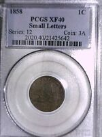 1858 FLYING EAGLE CENT PCGS EXTRA FINE  40 SMALL LETTERS 21425642