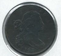 1798 DRAPED BUST LARGE CENT, EXTRA FINE  DETAIL