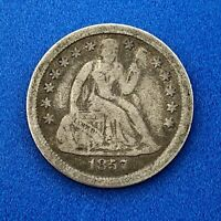 1857 O SEATED LIBERTY SILVER DIME 10C BETTER KEY NEW ORLEANS COIN