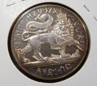 EE 1889  1897  ETHIOPIA TALARI X 2 SILVER PROOF HIGH RELIEF MENELIK II AND LION