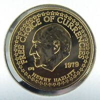 1979 US NEW YORK GOLD STANDARD CORPORATION 1/4 OZ GOLD HENRY HAZLITT