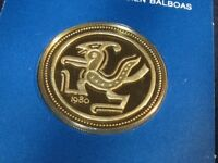 1980 PANAMA 100 BALBOAS GOLD PROOF PRE COLOMBIAN GOLDEN CONDOR