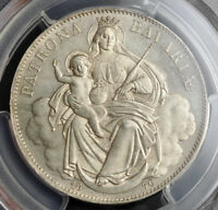 1870 KINGDOM OF BAVARIA LUDWIG II. SILVER MADONNA THALER COIN. TOP  PCGS MS66