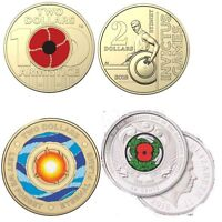 4 NEW $2 COINS   2018 RED POPPY   INVICTUS GAMES   ETERNAL FLAME   NZ 50C  POPPY