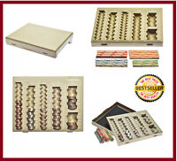 COIN HANDLING TRAY BANK TELLER & CHANGE COUNTER COUNTING SORTING W 6 COMPARTMENT
