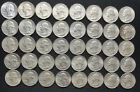 40 COIN ROLL OF 90  SILVER WASHINGTON QUARTERS  20  1964  20