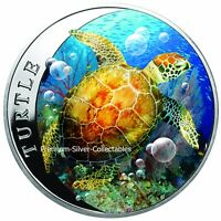2018 NIUE HAWKSBILL TURTLE   1 OUNCE PURE SILVER COIN